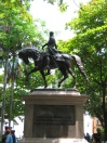 Simon Bolivar horses around