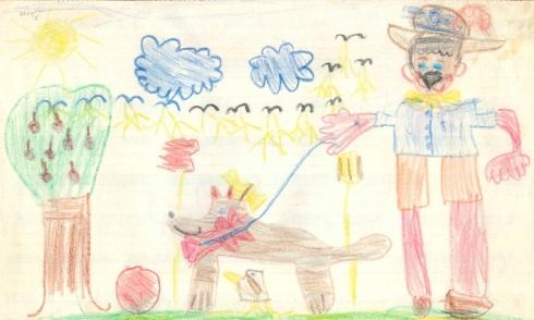 Megan art age 5